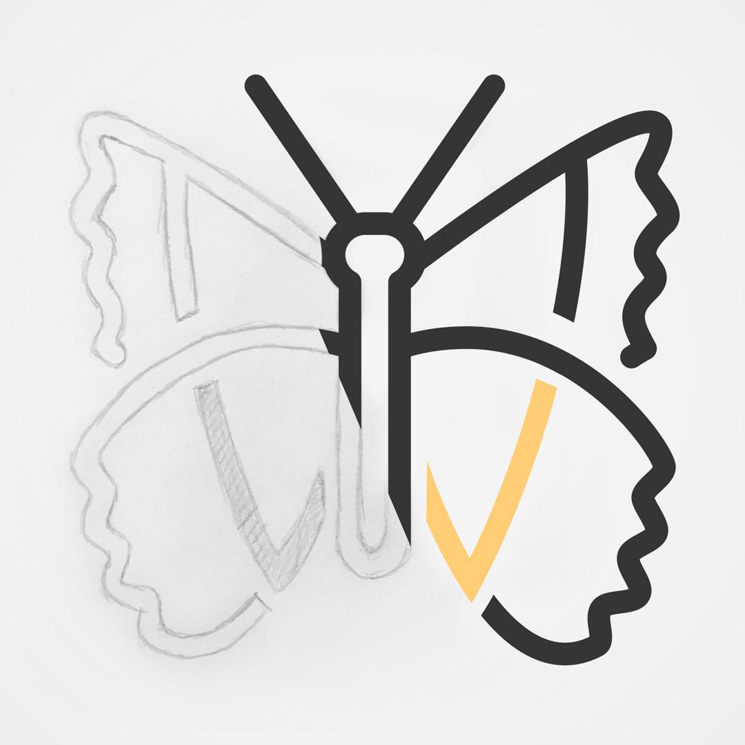logo squetch sketch nekson agence agency montreal design digital