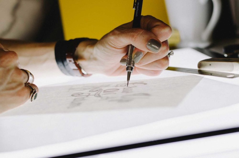 logo drawing sketch montreal design nekson agency agence